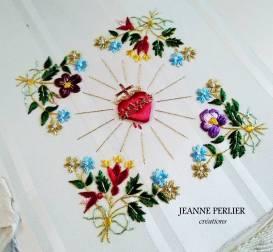 JEANNE PERLIER - Visitandine à fleurettes dorées