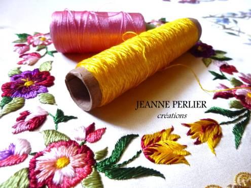 Broderie fleurs JEANNE PERLIER