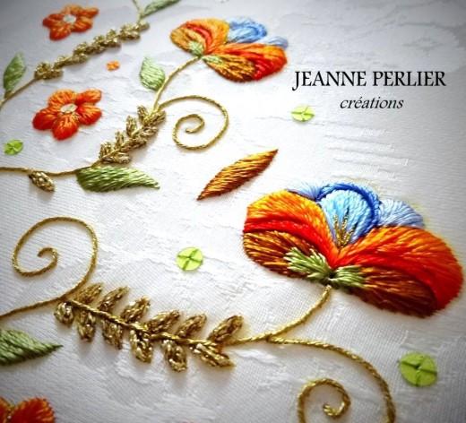 Jeanne Perlier broderie main
