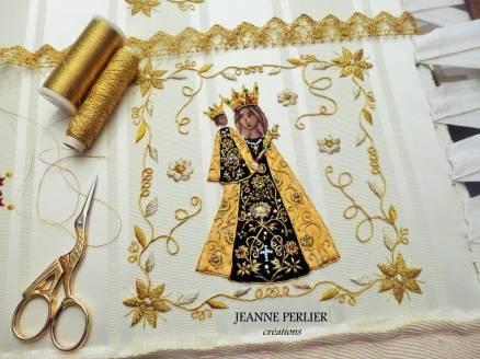 JEANNE PERLIER - Broderie La Vierge d'Altotting 2017