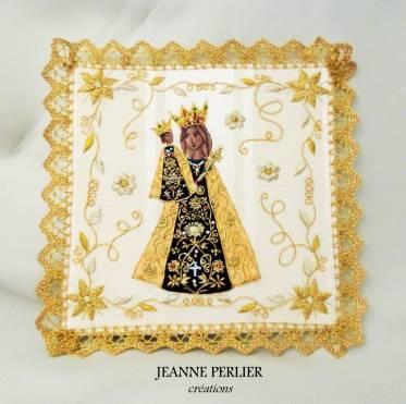 JEANNE PERLIER - Pale de la Vierge d'Altotting 2 - vue de face