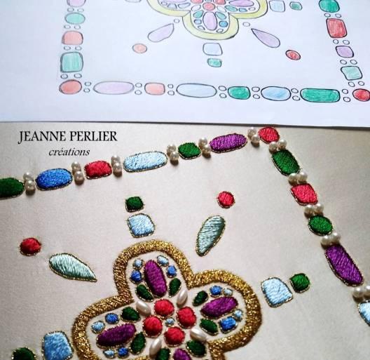 JEANNE PERLIER - La mérovingienne - Du dessin à la pale