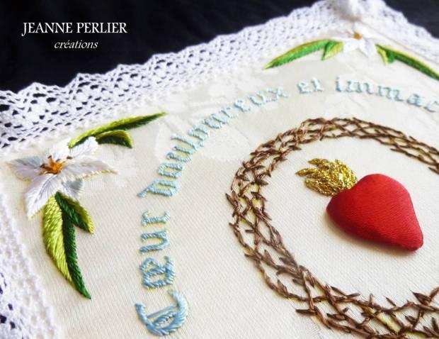 JEANNE PERLIER - Coeur douloureux - détail
