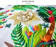 JEANNE PERLIER - Pale du missionnaire - fleurs